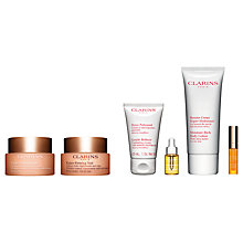 Buy Clarins Extra-Firming Day Cream and Extra-Firming Night Cream - Dry Skin with Gift Online at johnlewis.com