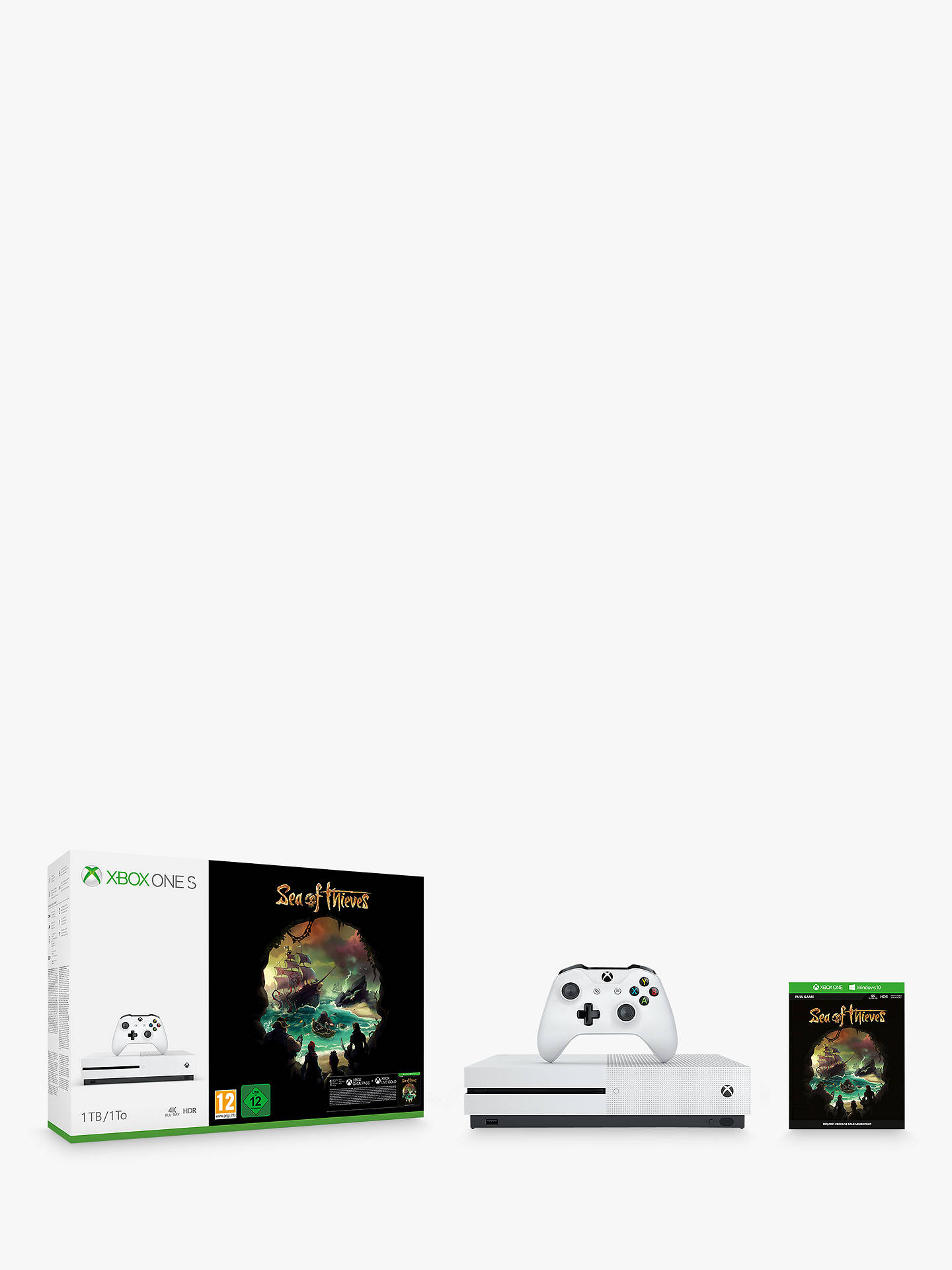 Microsoft Xbox One S Console, 1TB, with Wireless Controller