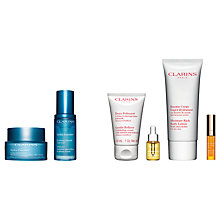 Buy Clarins Hydra Essentiel Serum and Silky Cream, Normal/Dry Skin with Gift Online at johnlewis.com