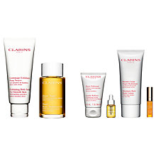 Buy Clarins Exfoliating Body Scrub and Body Treatment Oil - Firming/Toning with Gift Online at johnlewis.com