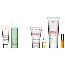 Buy Clarins Toning Lotion and Gentle Foaming Cleanser, Normal/Combination with Gift Online at johnlewis.com
