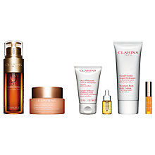 Buy Clarins Double Serum and Clarins Extra Firming Day Cream - All Skin Types, 50ml with Gift Online at johnlewis.com