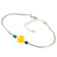Buy Be-Jewelled Milky Amber Beaded Sterling Silver Bracelet, Multi Online at johnlewis.com
