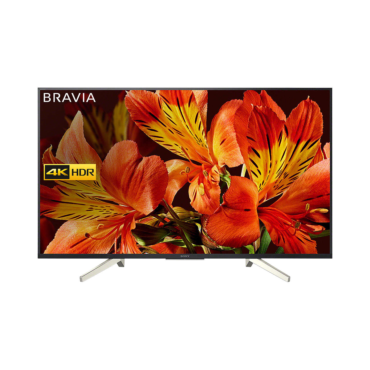 "BuySony Bravia KD49XF8505 LED HDR 4K Ultra HD Smart Android TV, 49"" with Freeview HD & Youview, Black Online at johnlewis.com"