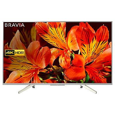 Sony Bravia KD49XF8577 LED HDR 4K Ultra HD Smart Android TV, 49 with Freeview HD & Youview, Silver