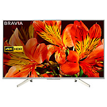"Buy Sony Bravia KD49XF8577 LED HDR 4K Ultra HD Smart Android TV, 49"" with Freeview HD & Youview, Silver Online at johnlewis.com"