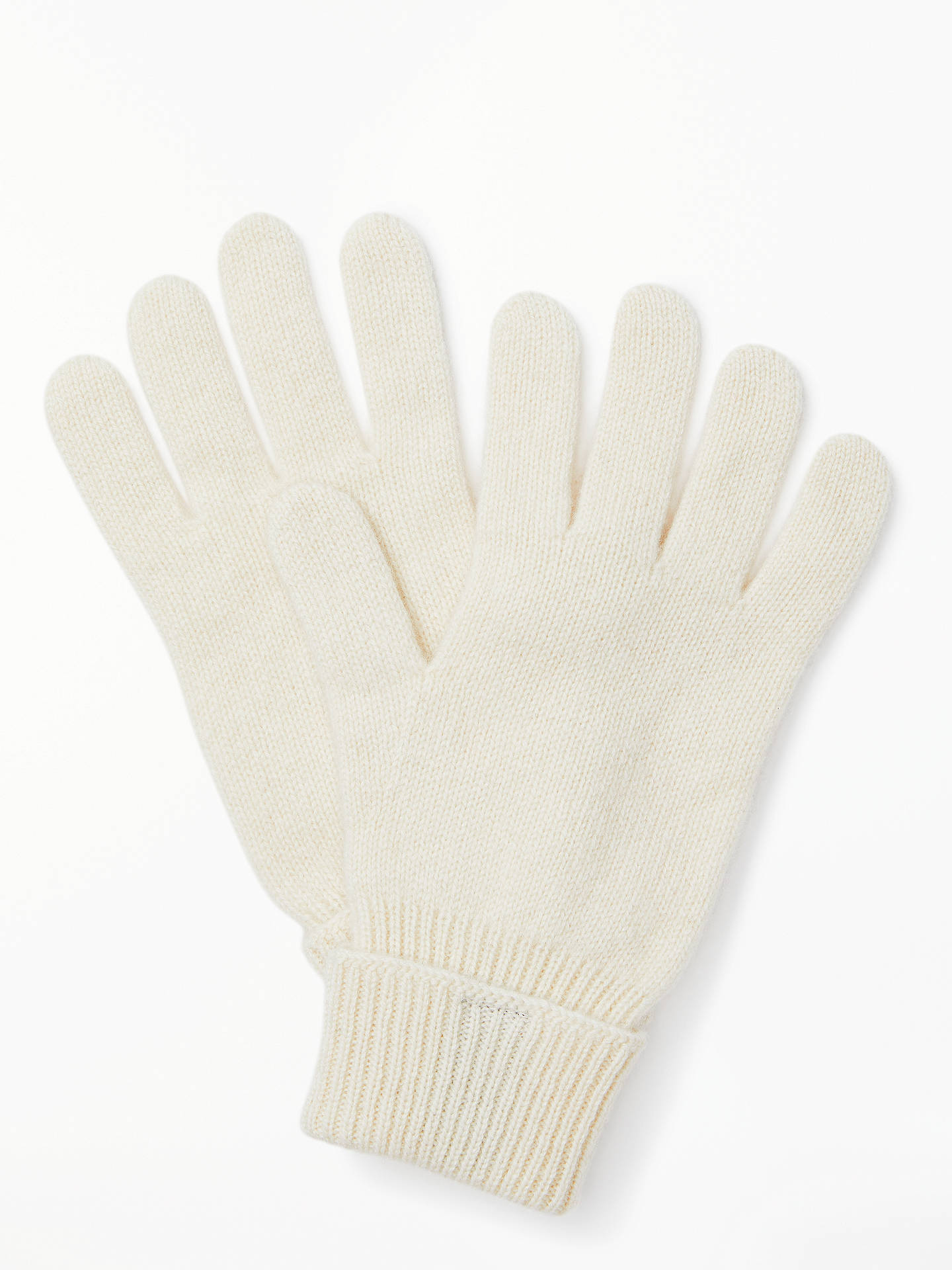 BuyJohn Lewis & Partners Cashmere Gloves, Cream Online at johnlewis.com