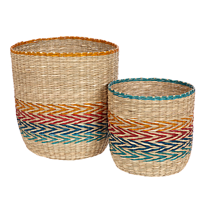 John Lewis & Partners Fusion Patterned Basket, Set of 2