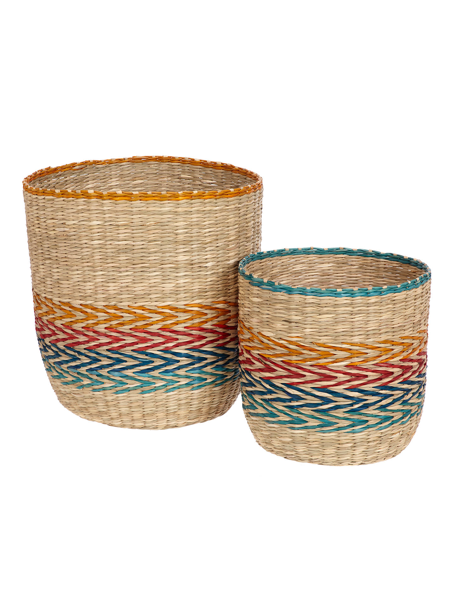 BuyJohn Lewis & Partners Fusion Patterned Basket, Set of 2 Online at johnlewis.com