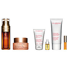 Buy Clarins Double Serum and Extra-Firming Night Cream - All Skin Types with Gift Online at johnlewis.com