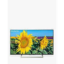 "Buy Sony Bravia KD43XF8096 LED HDR 4K Ultra HD Smart Android TV, 43"" with Freeview HD & Youview, Black Online at johnlewis.com"