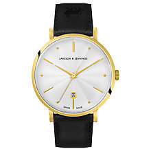 Buy Larsson & Jennings Unisex Aurora Date Leather Strap Watch Online at johnlewis.com