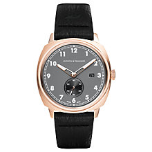Buy Larsson & Jennings Men's Meridian Date Leather Strap Watch Online at johnlewis.com