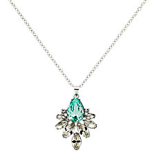 Buy Monet Navette Necklace, Aqua Online at johnlewis.com