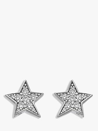 Hot Diamonds Sterling Silver Star Stud Earrings, Silver