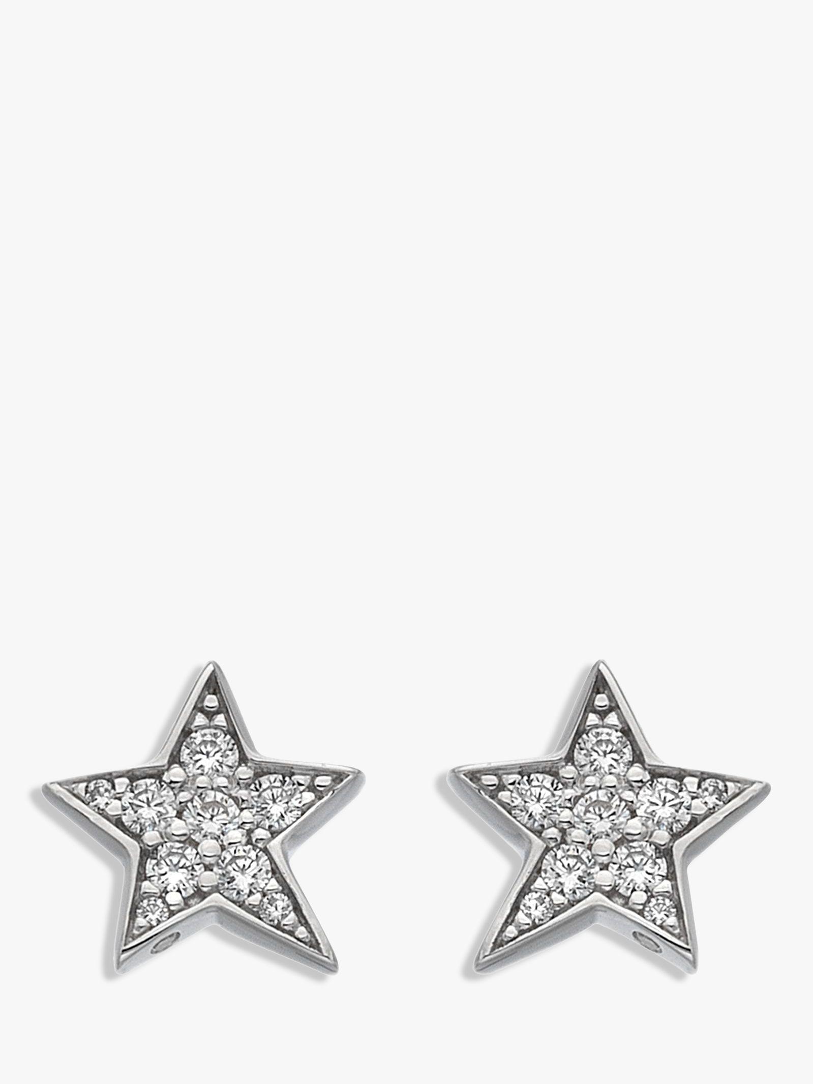 Hot Diamonds Hot Diamonds Sterling Silver Star Stud Earrings, Silver