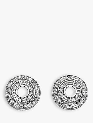 Hot Diamonds Sterling Silver Disc Stud Earrings, Silver