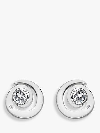Hot Diamonds Sterling Silver Spiral Stud Earrings, Silver