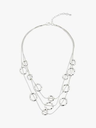John Lewis & Partners Circle Layered Necklace, Silver