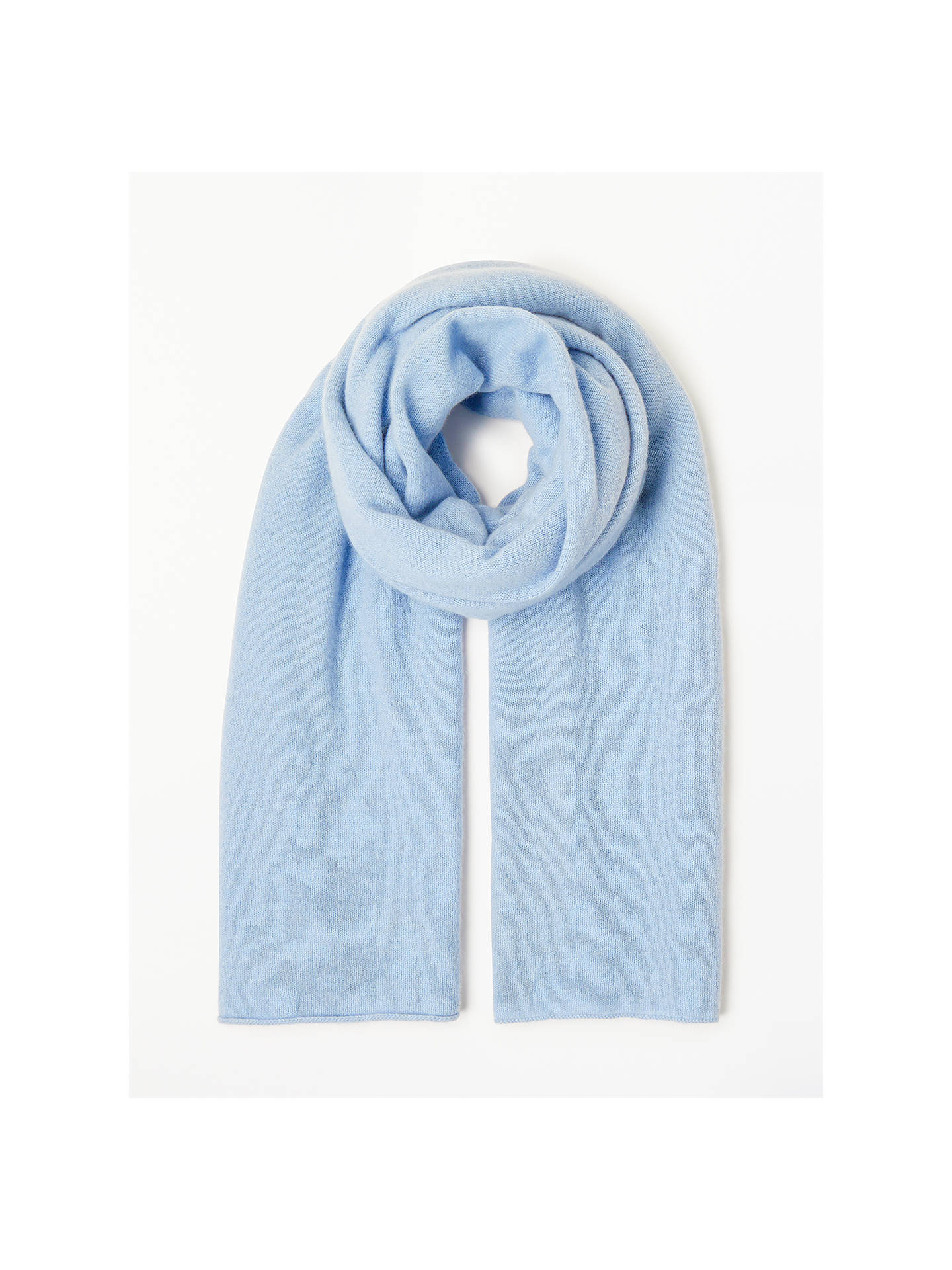 Buy John Lewis & Partners Cashmere Travel Wrap, Light Blue Online at johnlewis.com