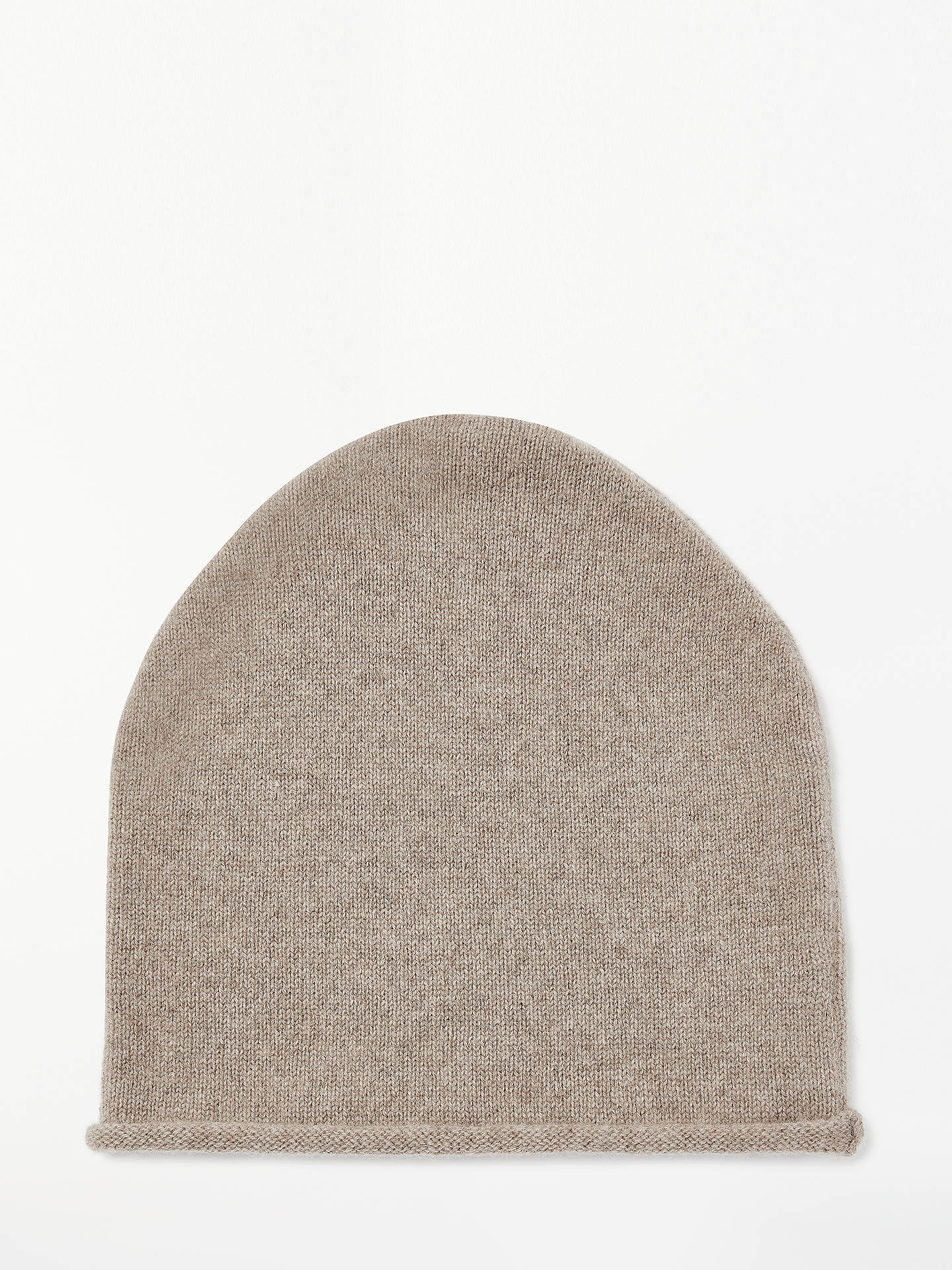 BuyJohn Lewis & Partners Cashmere Roll Beanie, Toast Online at johnlewis.com