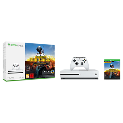 Image of Microsoft Xbox One S Console, 1TB, with Wireless Controller and PlayerUnknown's Battlegrounds Bundle
