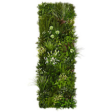Buy John Lewis Handmade Vertical Artificial Plant Wall, Green Online at johnlewis.com