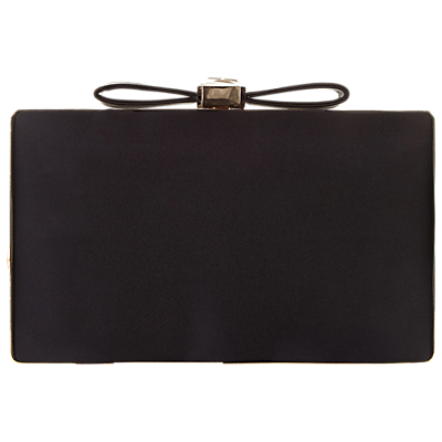 Adrianna Papell Minaudiere Bow Clutch Bag, Black