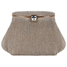 Buy Adrianna Papell Pleated Clutch Bag, Gold Online at johnlewis.com