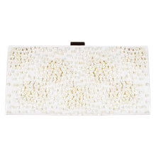 Buy Adrianna Papell Sequin Frame Clutch Bag, Champagne Online at johnlewis.com
