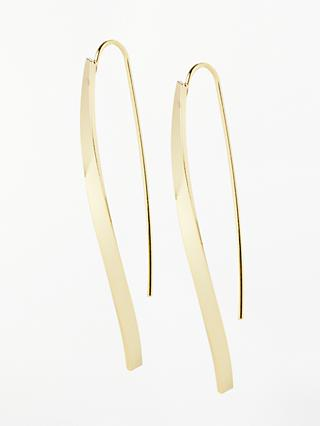 John Lewis & Partners Long Twist Drop Earrings, Gold