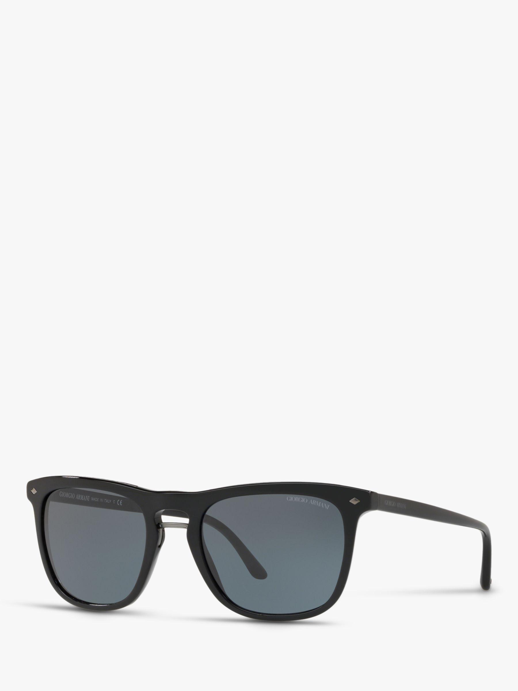 Giorgio Armani Giorgio Armani AR6040 Men's Frames of Life Square Sunglasses, Black/Grey