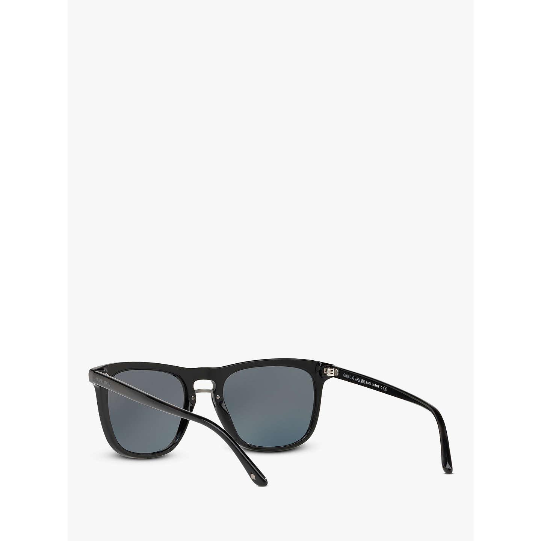 Giorgio Armani AR6040 Men\'s Frames of Life Square Sunglasses, Black ...