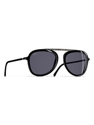 8b51b044ae CHANEL Pilot Sunglasses CH5381 Black