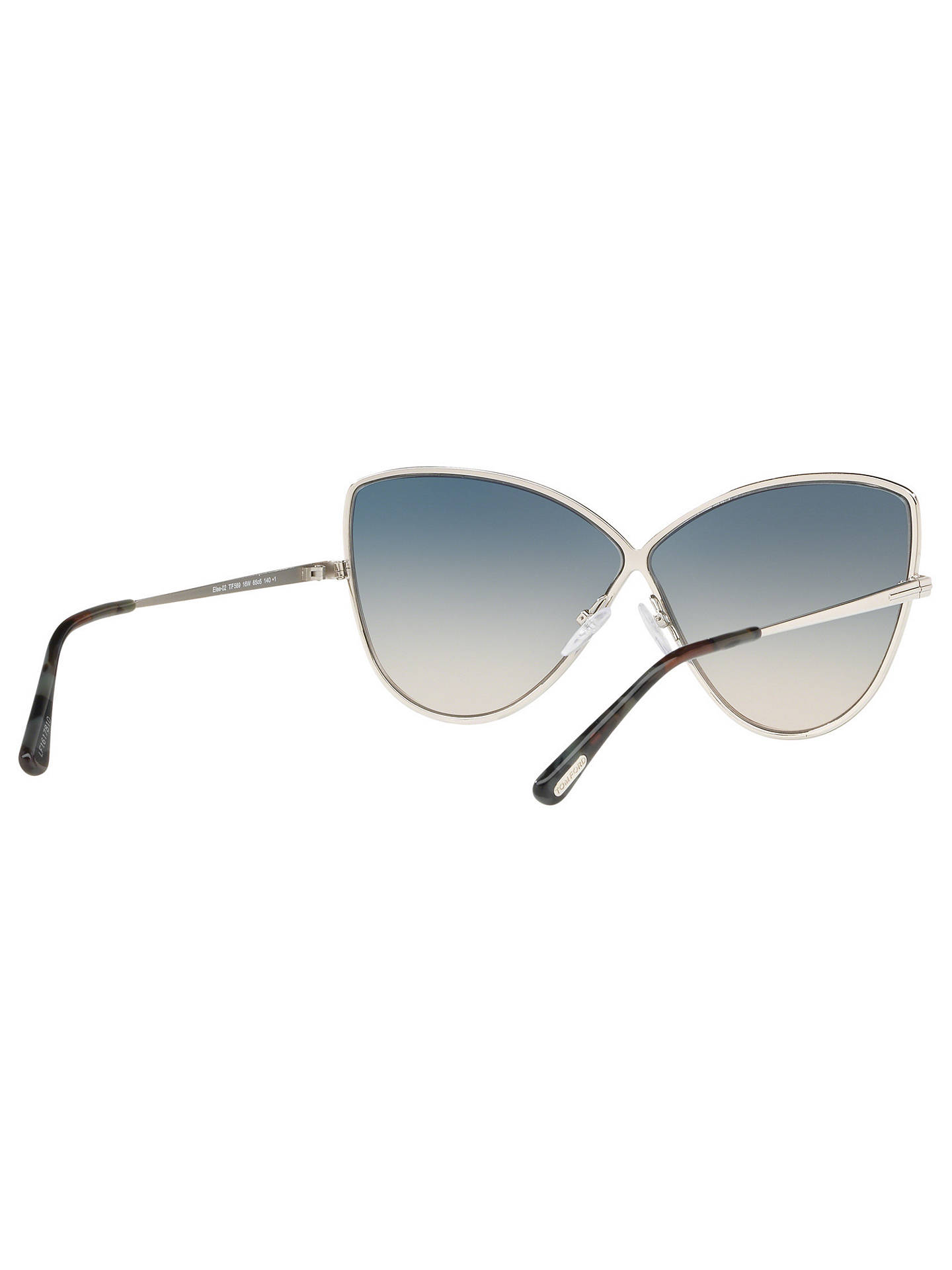 BuyTOM FORD FT0569 Elise-02 Cat's Eye Sunglasses, Silver/Blue Gradient Online at johnlewis.com