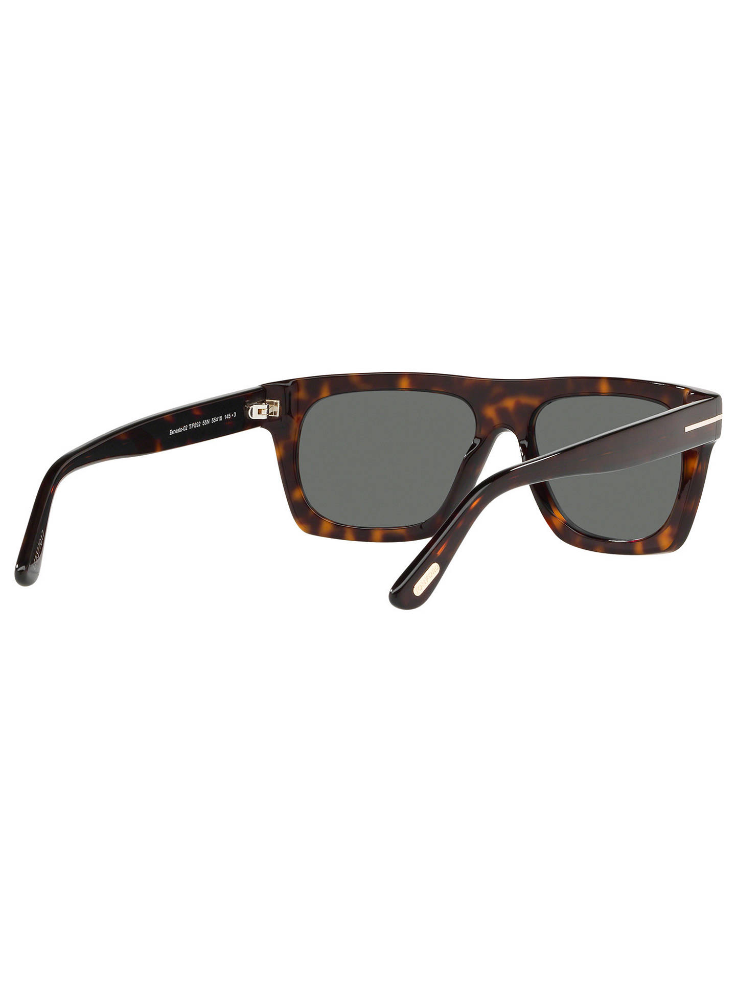 BuyTOM FORD FT0592 Men's Ernesio-02 Square Sunglasses, Tortoise/Grey Online at johnlewis.com