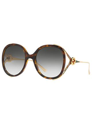 Gucci GG0226S Women's Statement Oval Sunglasses