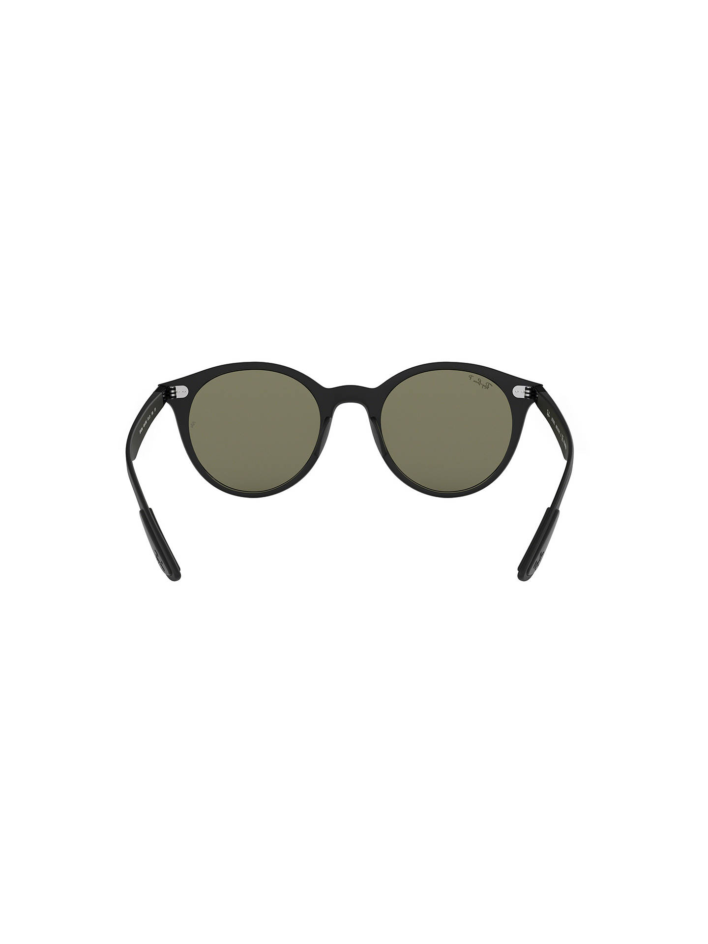 Buy Ray-Ban RB4296 Unisex Polarised Oval Sunglasses, Black/Green Online at johnlewis.com