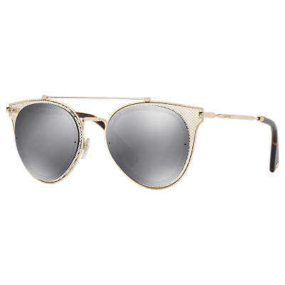 Valentino VA2019 Round Sunglasses, Black