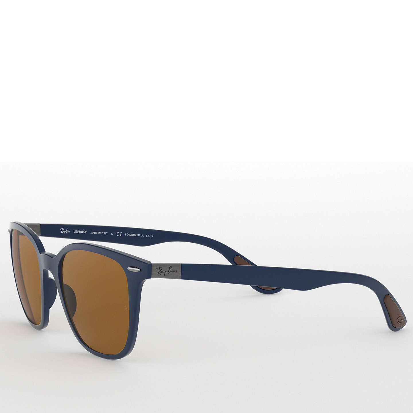 BuyRay-Ban RB4297 Wayfarer Polarised Sunglasses, Blue/Brown Online at johnlewis.com