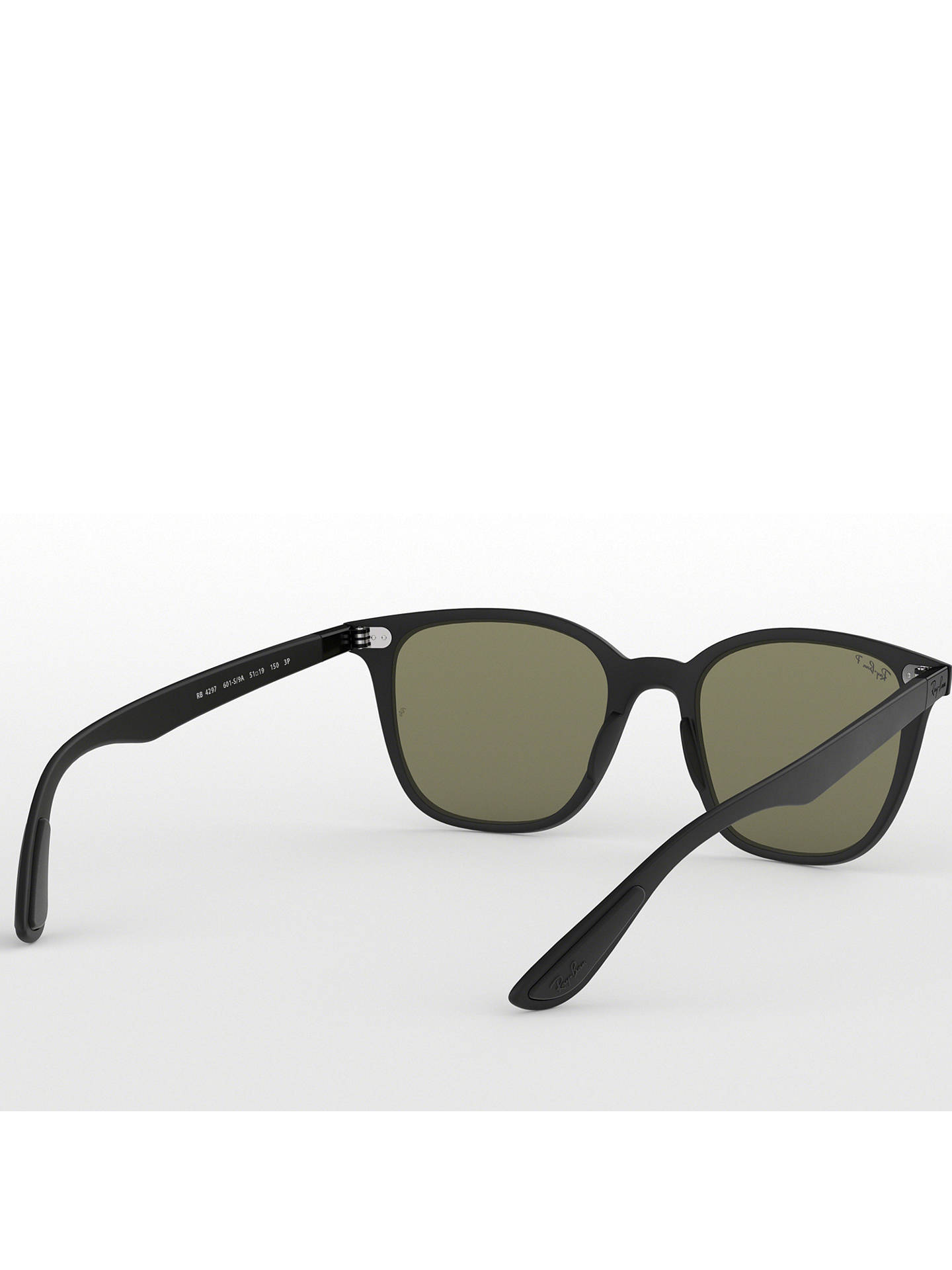 BuyRay-Ban RB4297 Wayfarer Sunglasses, Black/Green Online at johnlewis.com