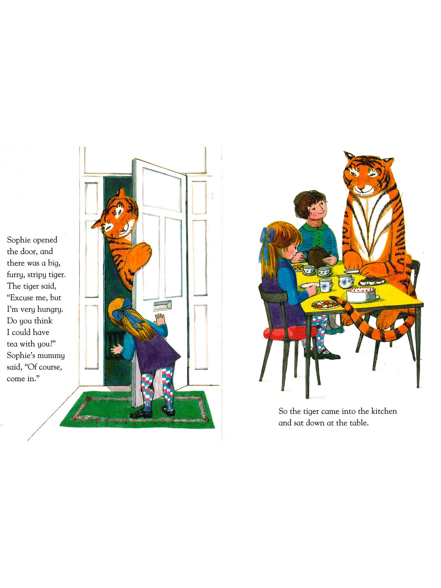 Buy The Tiger Who Came To Tea 50th Anniversary Edition Children's Book Online at johnlewis.com