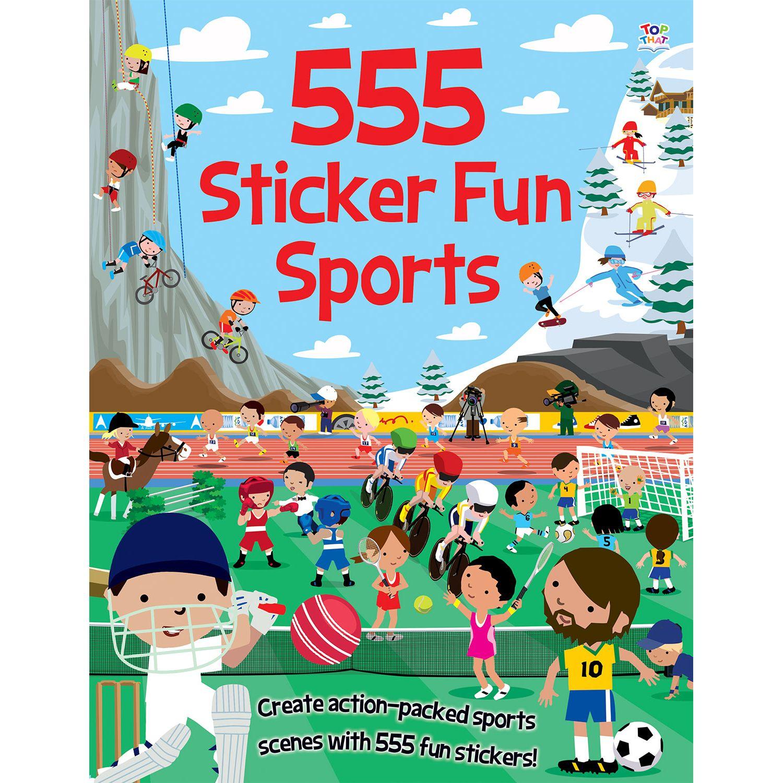 Children's Books 555 Sticker Fun Sports