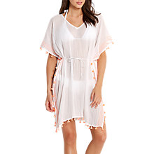 Buy Seafolly Mini Tassel Cotton Gauze Kaftan, White/Multi Online at johnlewis.com
