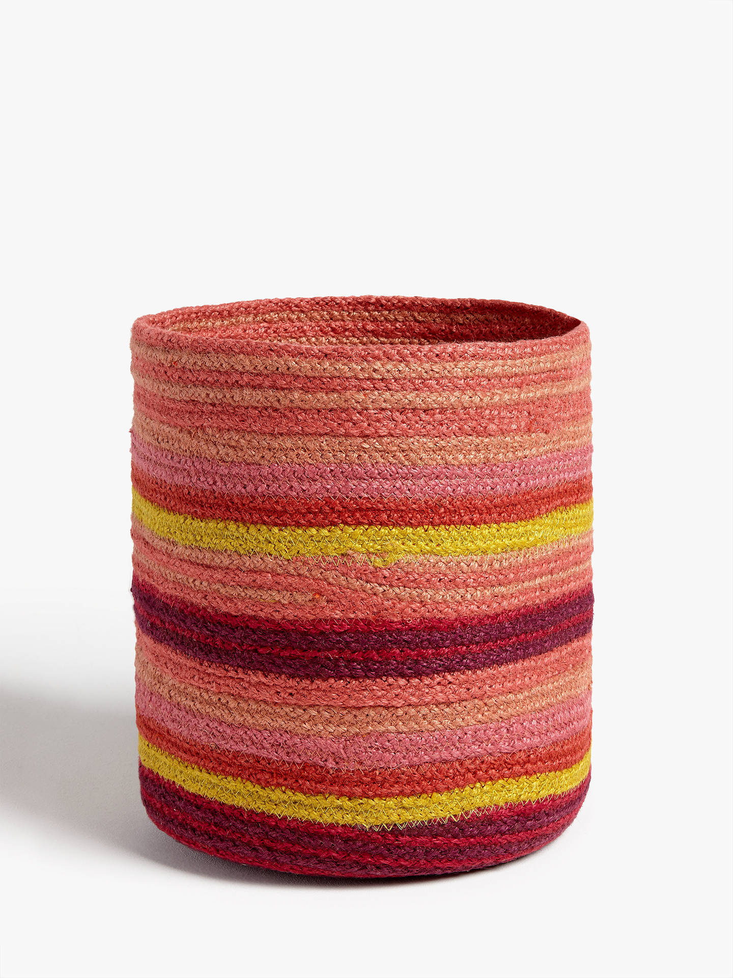 BuyJohn Lewis & Partners Fusion Jute Striped Storage Basket Online at johnlewis.com