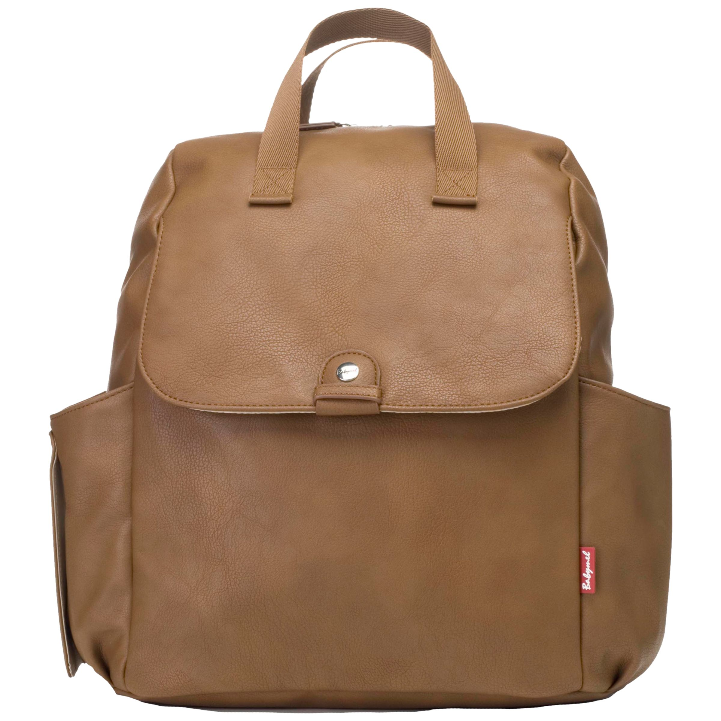 Babymel Babymel Robyn Convertible Vegan Leather Backpack Changing Bag, Tan