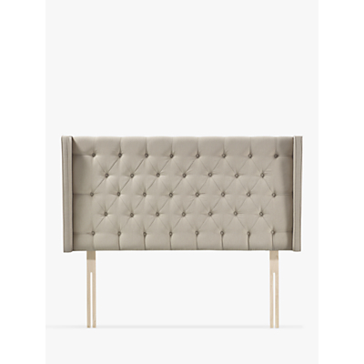 John Lewis & Partners Natural Collection Harlow Strutted Headboard, King Size, Canvas Pebble