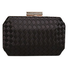 Buy Carvela Gianna Satin Clutch Bag, Black Online at johnlewis.com