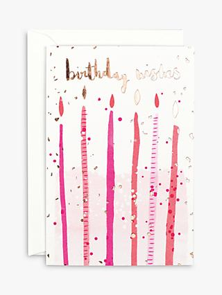 Carte blanche greetings cards john lewis partners carte blanche candles birthday wishes card m4hsunfo