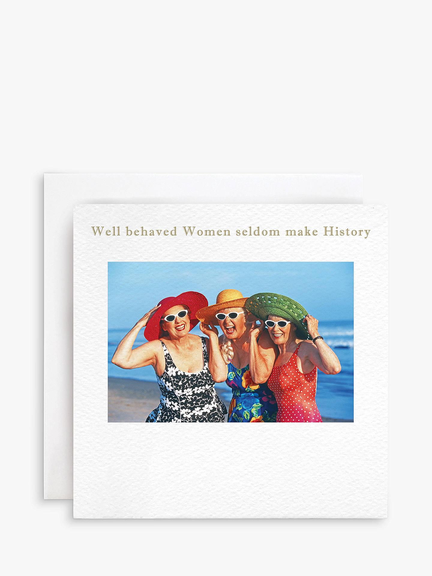 BuySusan OHanlon Well Behaved Women Birthday Card Online At Johnlewis